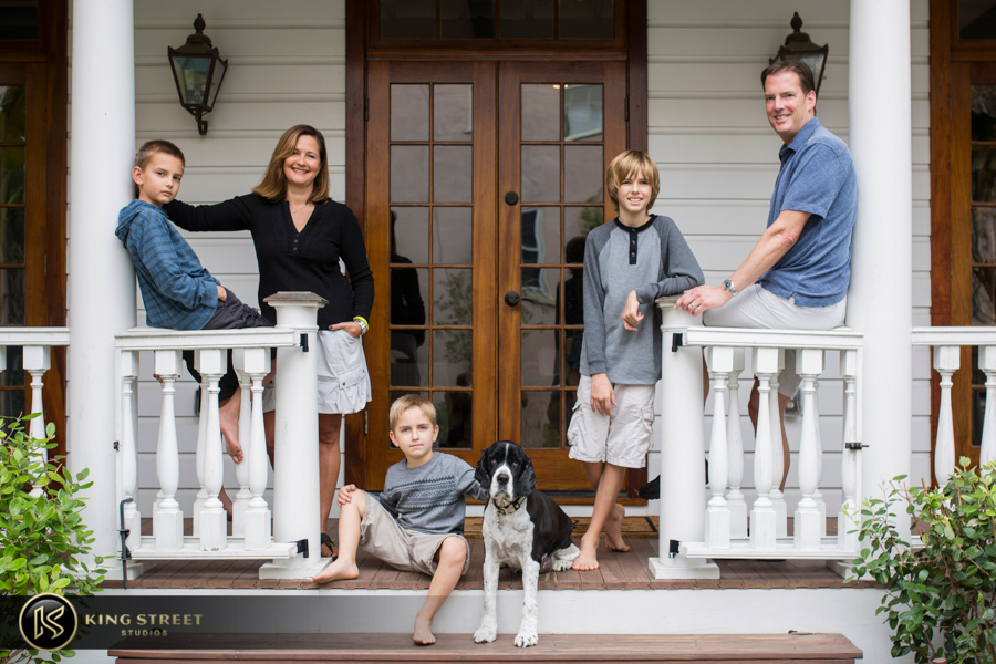 family photo by charleston family portrait photographers king street studios photography