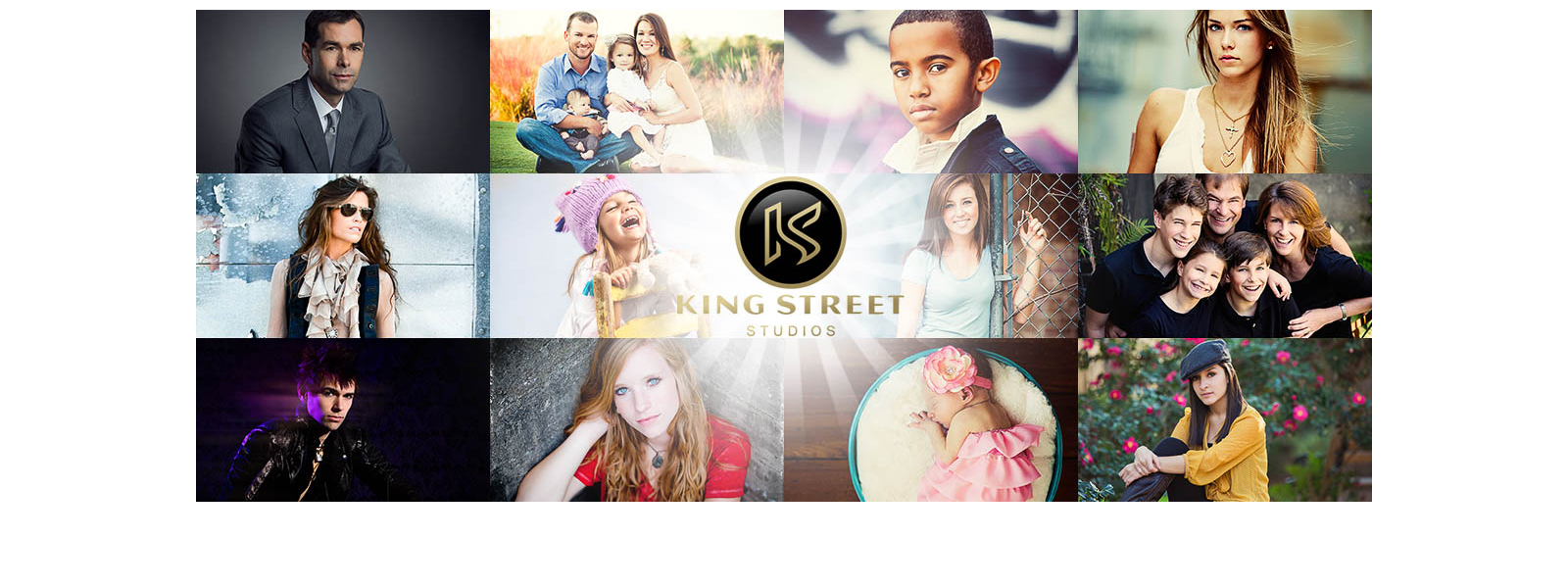 charleston photographers king street studios photography banner collage of portraits