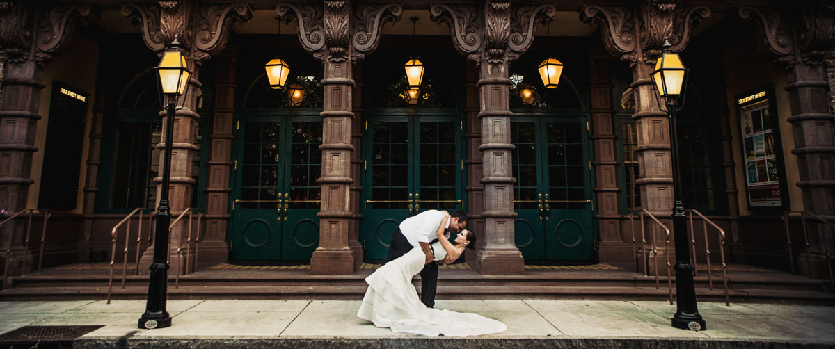 day after wedding pictures taken at the dock street theater in downtown charleston by charleston wedding photographers king street studios