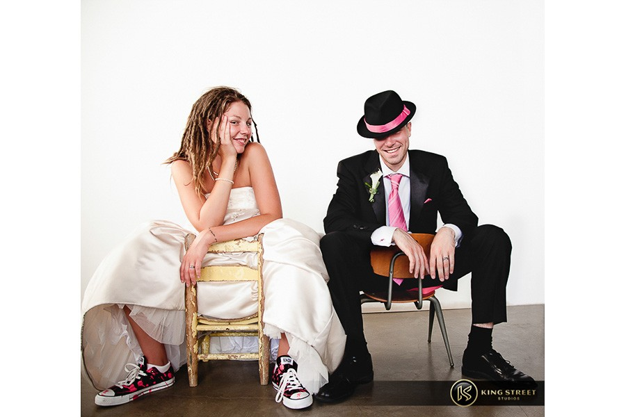 stylized wedding pictures - urban style - by charleston wedding photographers king street studios