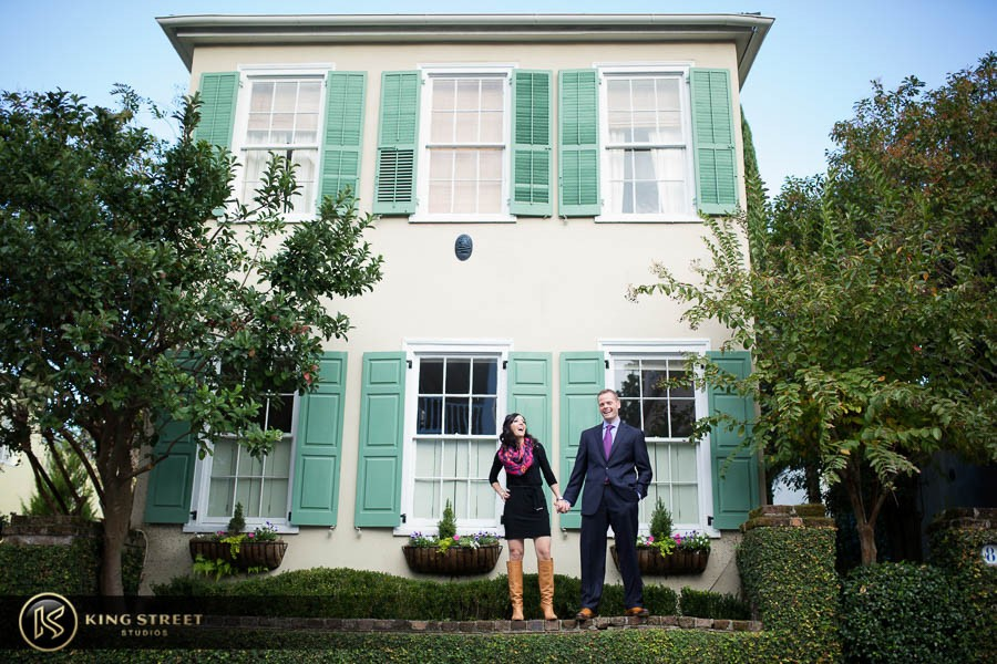 engagement pictures by charleston wedding photographers king street studios  (811)