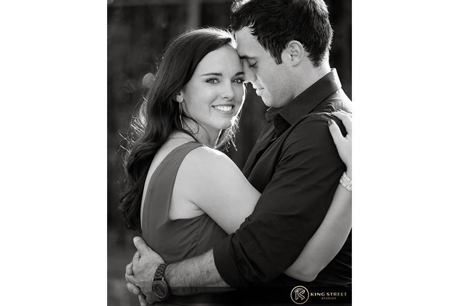 engagement pictures by charleston wedding photographers king street studios  (831)