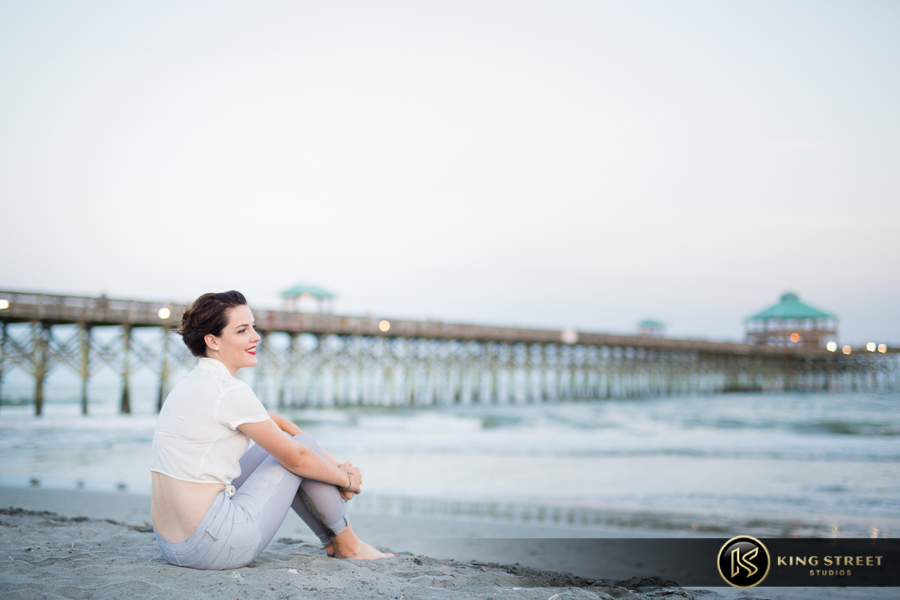 chool senior portraits at folly beach sc by charleston senior portrait photographers king street studios