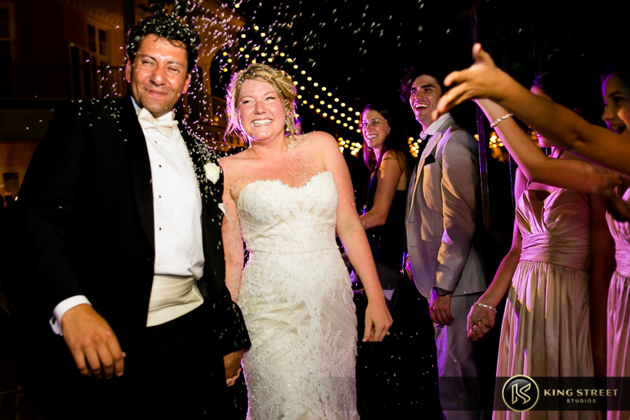charleston wedding photography- exit pictures at the william aiken house by charleston wedding photographers king street studios