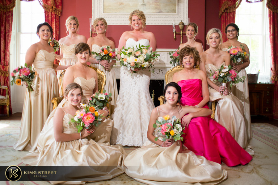 charleston wedding photography bridal party at the william aiken house by charleston wedding photographers king street studios