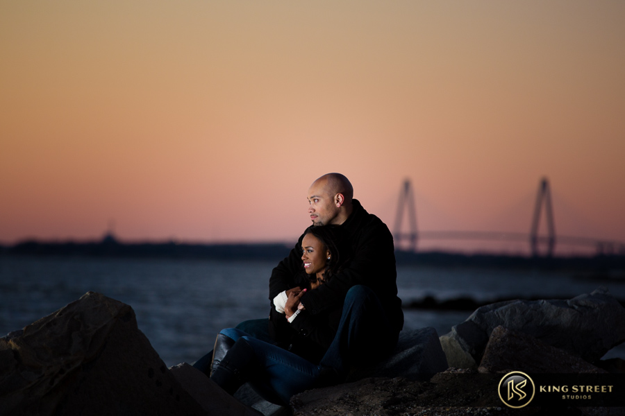 engagement photos charleston at the beach by best charleston wedding photographers king street studios