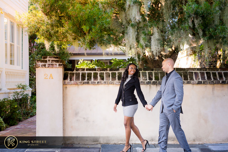 downtown charleston engagement pictures by charleston photographers king street studios-4